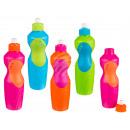 groothandel Kinderservies: Plastic fles,  kleuren, voor 650 ml,