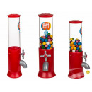 Red retro candy dispenser, approx. 14 x 31 cm