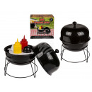 Spice holder, kettle grill, with plastic salt &amp