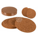 Cork coasters, D: about 9 cm, set of 6, 4320 / PAL