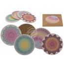 Ceramiczna podstawka z korkową podłogą, mandala