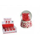 Großhandel Geschenkartikel & Papeterie:-Polyresin  Glitterkugel,  Love, ca. 6,5 x ...