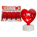 Plastic candle, heart, with color changing LED