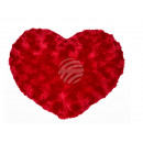 Red heart -Pillows, 100% polyester, 30 x 19 cm,