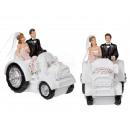 Polyresin bruidspaar op tractor, Just Married,
