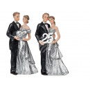 Polyresin pair, silver wedding anniversary - 25, 1