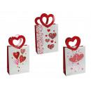 mayorista Regalos y papeleria: Blanco bolsa de  regalo de papel, Corazón con escar