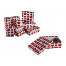 Boîte à cadeau en carton blanc avec décor coeur ro