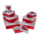 Red gift box with heart & I love you, approx.