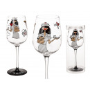 Wine glass, Get well soon, about 23 cm, in PVC box