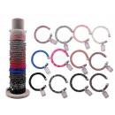 mayorista Joyas y relojes: pulsera de nylon, Crystal Star, 12 colores surtido