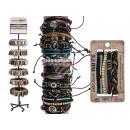 wholesale Bracelets: Leather bracelet, Urban Style, 24 times assorted ,