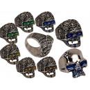 Großhandel Ringe: Stimmungsring, Skull, 4 Größen, 2-fach sortiert