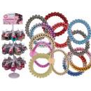 Plastic hair tie / bracelet, telephone cord