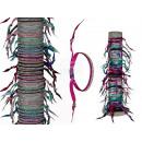 Tekstylne pasmo włosów / pasek, styl mody, 10-kolo