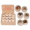 -Naturholz  Milchzahndose,  Animals, ca. 3,5 x ...
