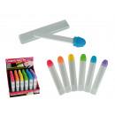 wholesale Manicure & Pedicure: Ceramic nail file,  Neon Colours, ca. 12 cm, 6 colo