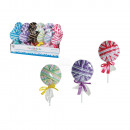 Hair ribbons, Lollipop, 6 colour series ass., 24
