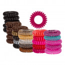 Plastic hair tie, telephone cord, 6-color sort
