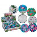 groothandel Badmeubilair & accessoires: Pocket spiegel,  Flamingo, ongeveer 7 cm, 6-voudig