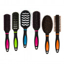 Hairbrush, Neon, 23 cm, 6-fold and 4-color sensor