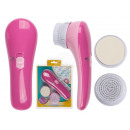 Plastic massager, Pink Beauty, with 2 different