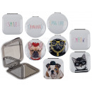 Double Pocket Mirror, Dogs & Cats