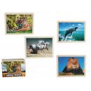 wholesale Puzzle: Wooden puzzle,  Wild Animals, 24 pcs., ca. 30 x 22