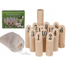 Natural wood throwing game, Viking II, 14 pieces