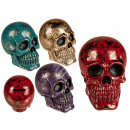 Polyresin Money Box, Shiny Skull, about 13 x 10 x