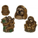 Polyresin money box, sloth, approx. 11 x 10.5 x 11