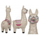 Ceramic money box with lock, llama with saddleclot