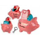 wholesale Saving Boxes: Ceramic money box with lock, Shopping Queen Pig,