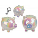 Ceramic money box with lock, Shiny Piggy