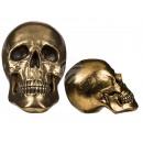 Goudkleurige polyresin schedel, ongeveer 25 cm