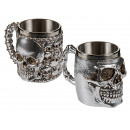 Silver plated polyresin mug with stainless steel i