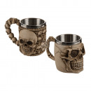 Polyresin mug with stainless steel insert, Skull,