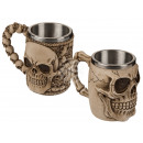 Polyresin beer mug with stainless steel insert, Sk