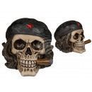 Polyresin Money Box, Skull - Freedom Fighter m