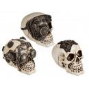 Crâne de polyrésine, Cyborg Skull, environ 16 cm