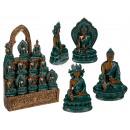 Polyresin Buddha , Bhaisajyaguru, ca. 5 x 5 cm, 3-