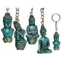 Metall-Schlüsselanhänger, Thai-Buddha, ca. 6,5 cm