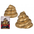 Plaster figure, Golden Poo, ca.7 cm, in PVC box