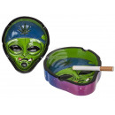 groothandel Asbakken: Asbak, rokende alien, circa 13 cm