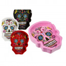 Polyresin Ashtray, Coloured Skull, about 10 cm,