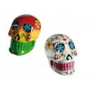 grossiste Farces et attrapes: XL-Tête en  polyrésine,  Coloured Skull, ...