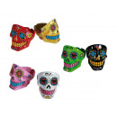 grossiste Cendriers: Cendrier en  polyresine,  Coloured Skull, ...