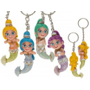 Metal Keychain, Polyresin Mermaid,