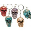Metal key chain, Shiny Skull