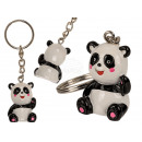 Fém kulcstartó, polyresin panda